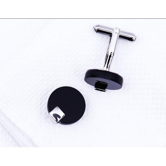 Черни кръгли кристални бутонели