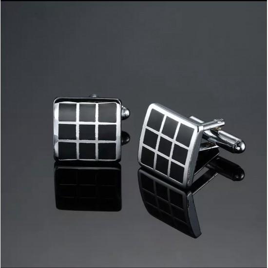 Правоъгълни черни бутонели с решетка