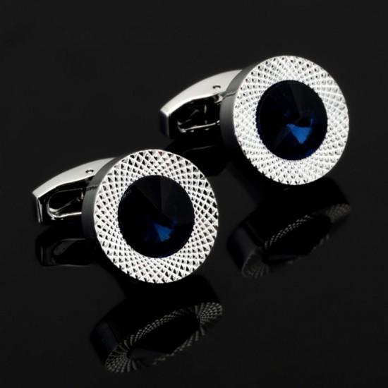 Луксозни кръгли бутонели с кристал и метален ринг