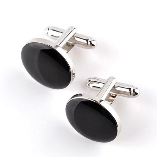 Черни кръгли бутонели с камък