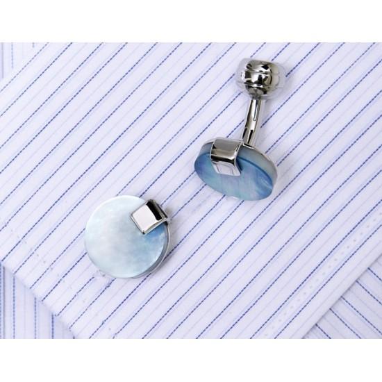 Кръгли бутонели със син камък