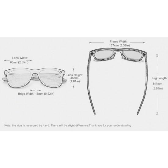 Мъжки слънчеви очила с дървени рамки