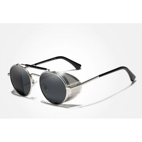 Мъжки слънчеви очила Retro silver
