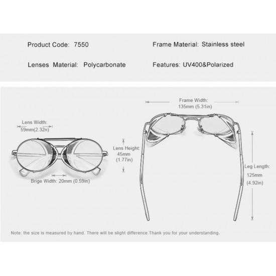 Мъжки слънчеви очила Retro black
