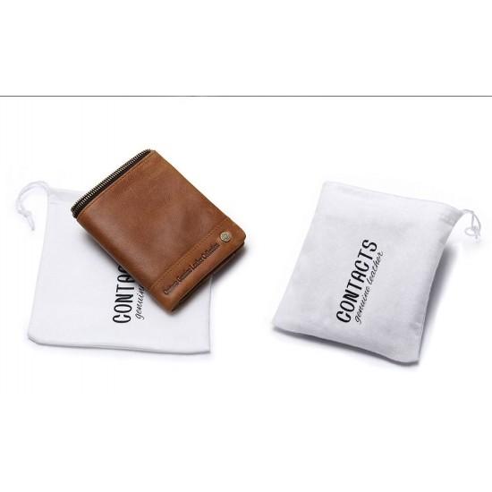 Мъжки кожен портфейл Guard RFID