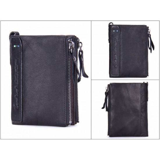 Мъжки кожен портфейл Avant-gardé - черен