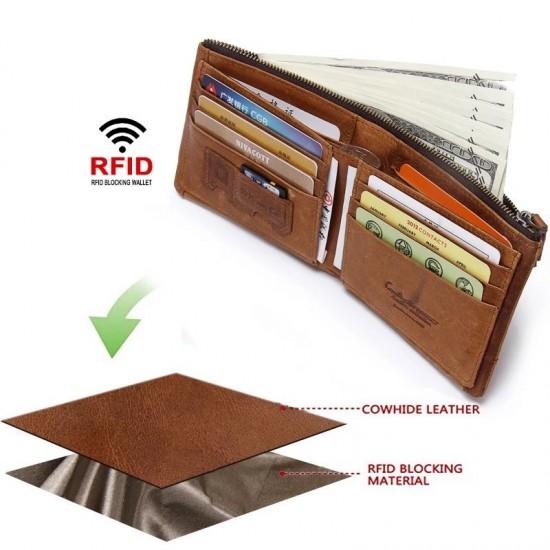 Мъжки кожен портфейл Patriot RFID blocking