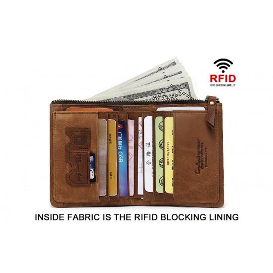 Мъжки кожен портфейл Guard RFID blocking